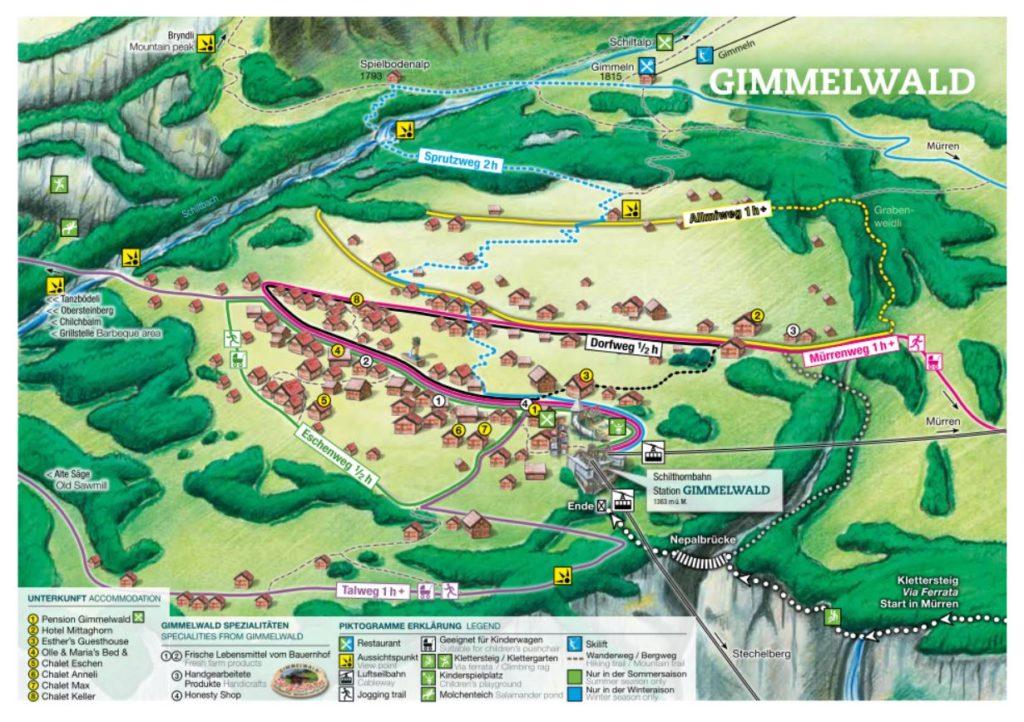 Dorfplan Gimmelwald